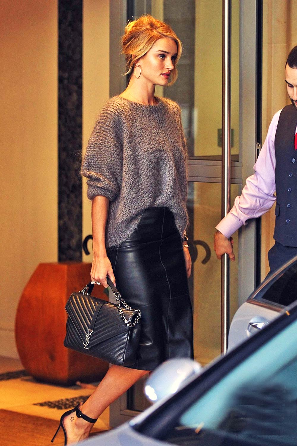 Rosie Huntington Whiteley out and about in London