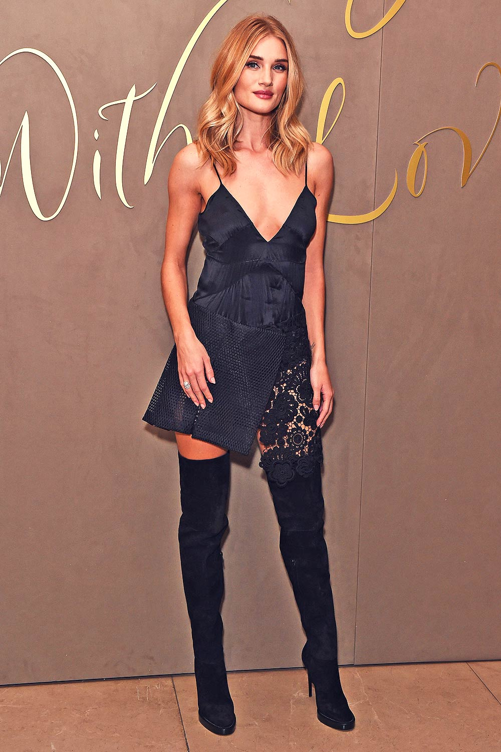 Rosie Huntington Whiteley attends Burberry Festive Film Premiere