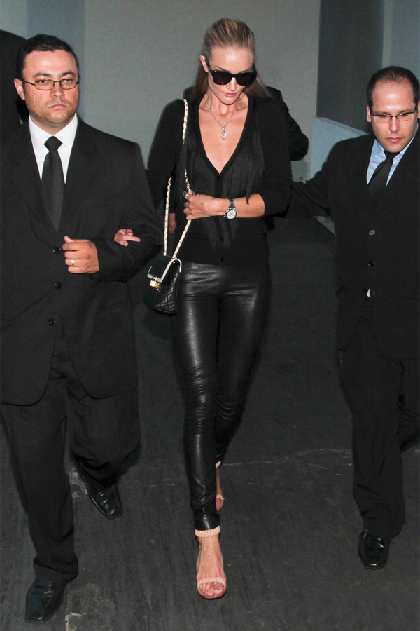 Rosie Huntington-Whiteley heads to her car