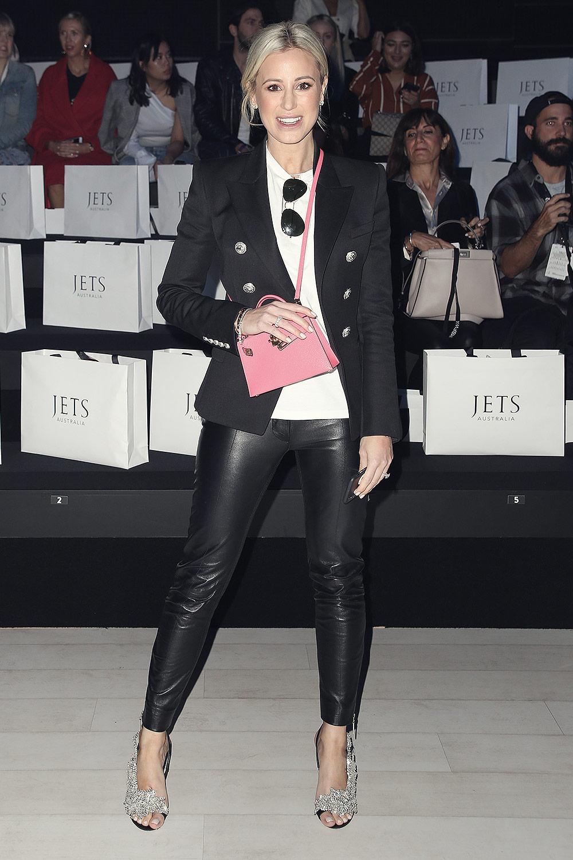 Roxy Jacenko at Jets runway show at Gallery I