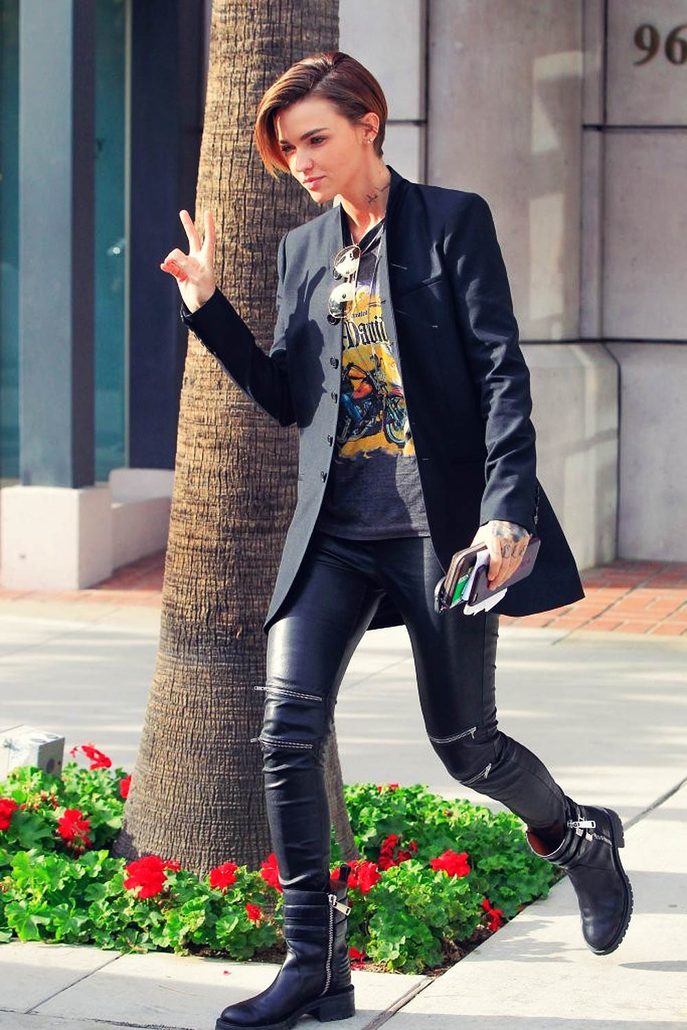 Ruby Rose Out In Los Angeles Leather Celebrities