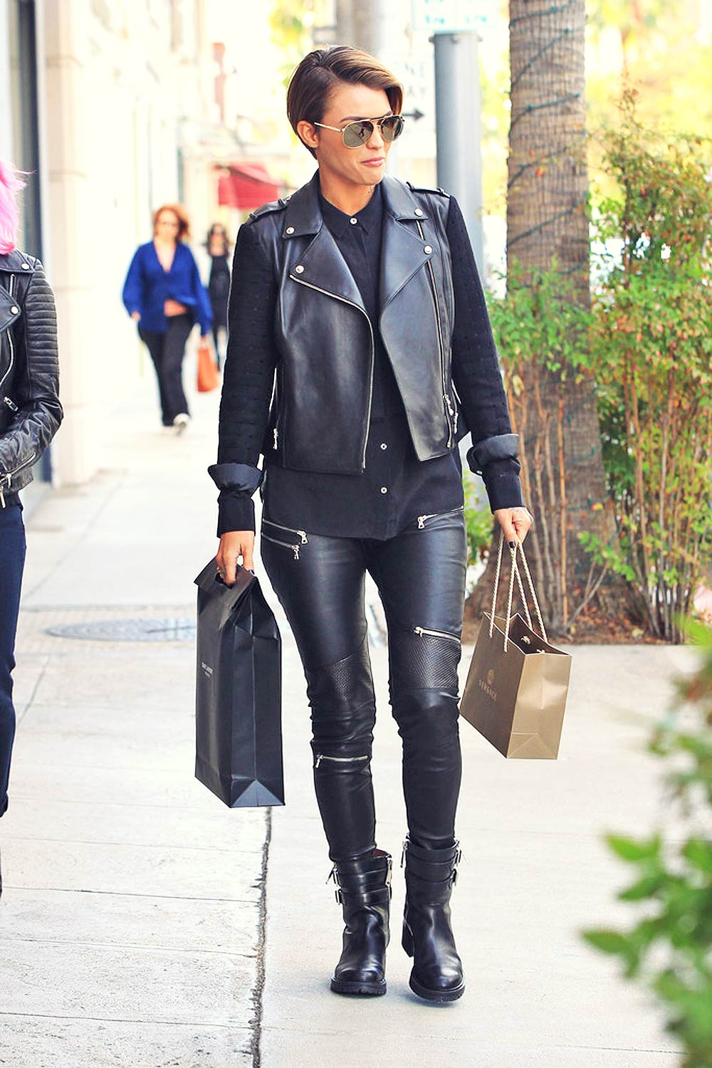 Ruby Rose is seen out shopping in Beverly Hills