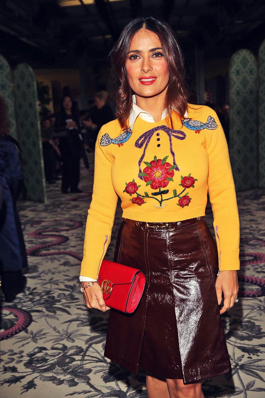 Salma Hayek attends Gucci fashion show