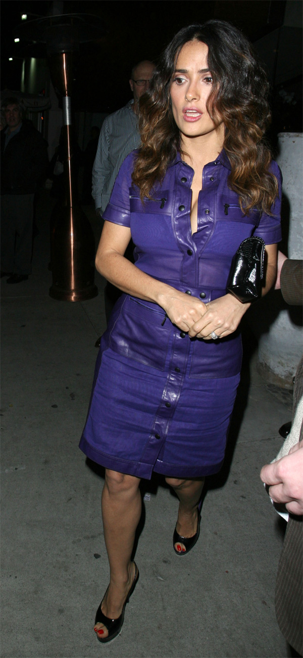 Salma Hayek attend a Puss in Boots Awards Mixer at Red O in LA