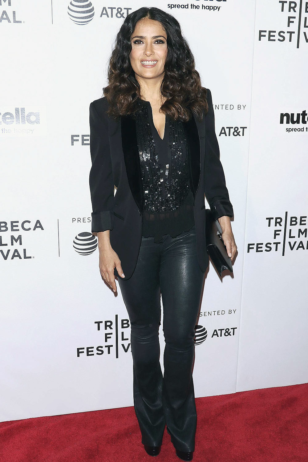 Salma Hayek attends Tribeca Shorts Group Therapy