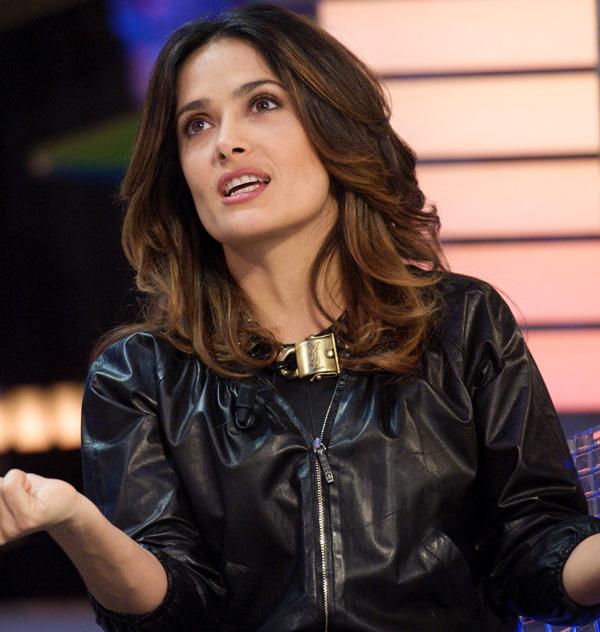 Salma Hayek attends El Hormiguero TV Show