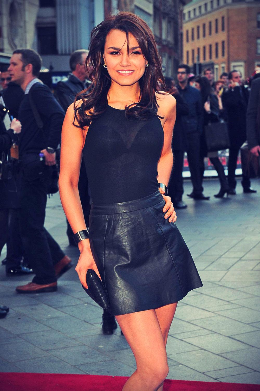 Samantha Barks attends Iron Man UK premiere