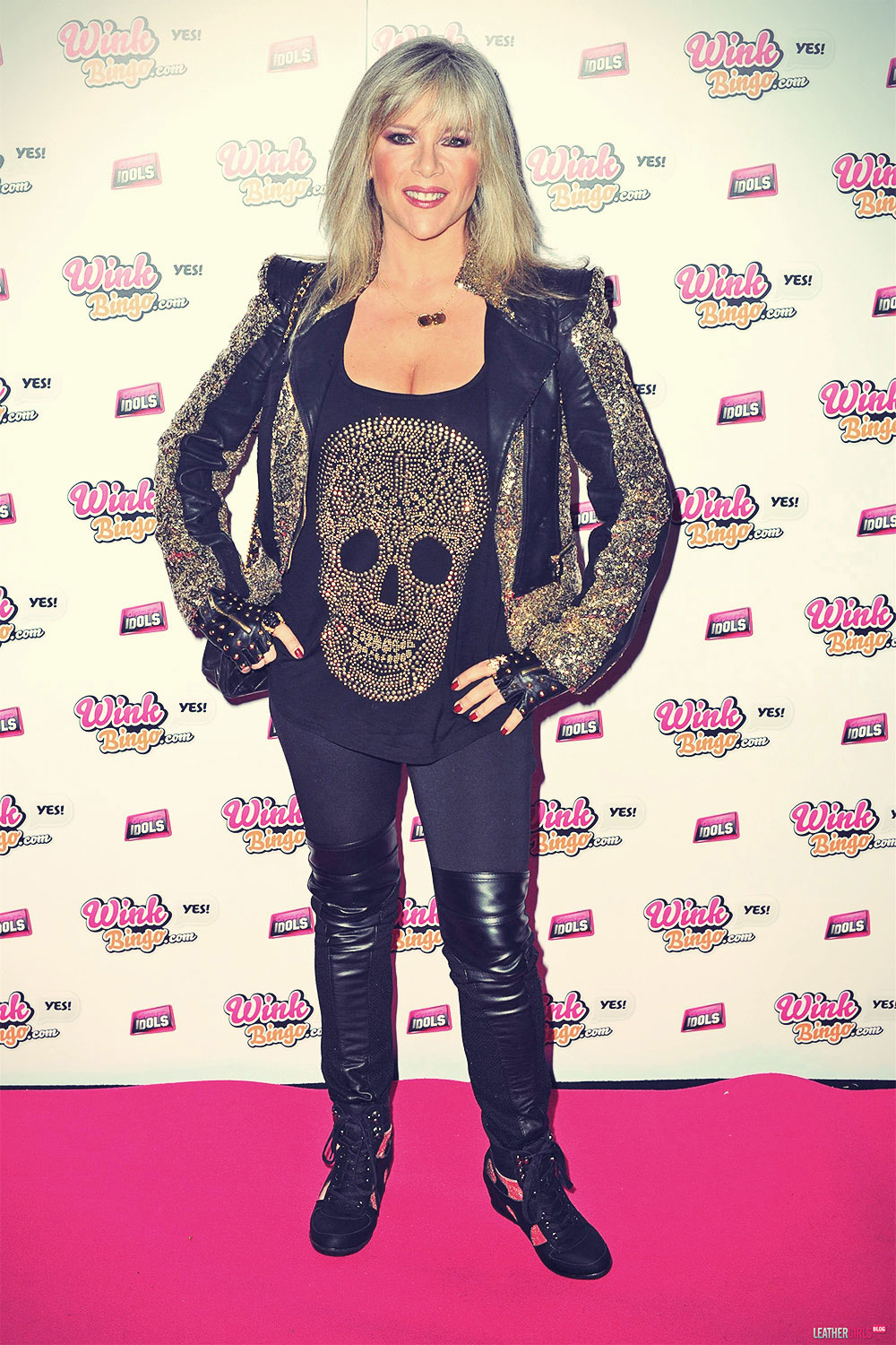 Samantha Fox attends Wink Bingo Celebrity Female Take Over