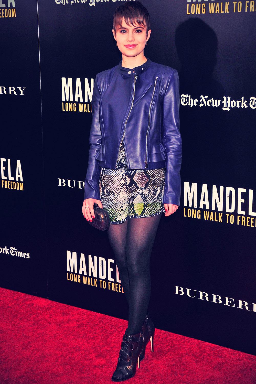 Sami Gayle attends Mandela Long Walk To Freedom screening