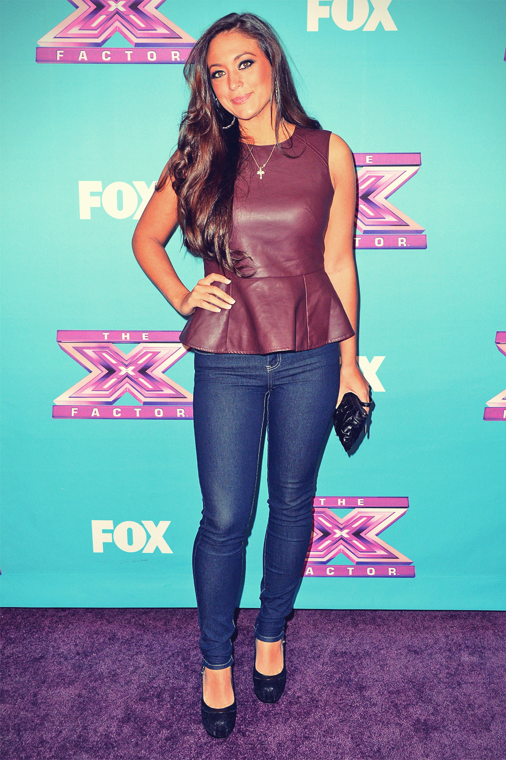 Sammi Giancola arrives at Fox's The X Factor Season Finale
