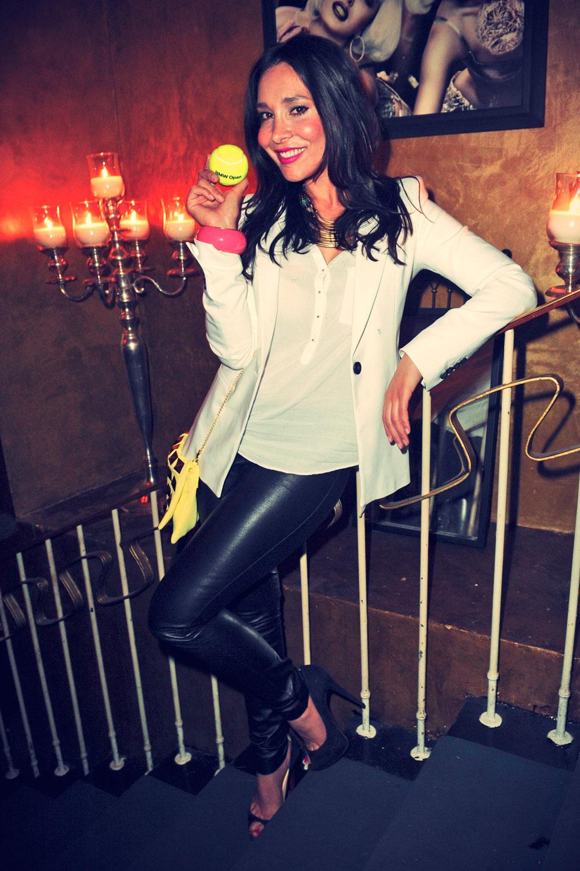 Sandra Ahrabian attends BMW Open Players Night
