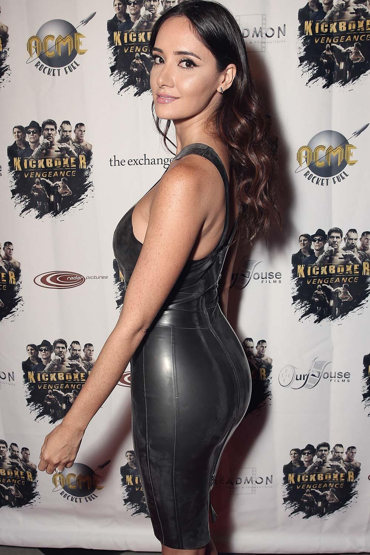 Sara Malakul Lane attends Kickboxer Vengeance premiere