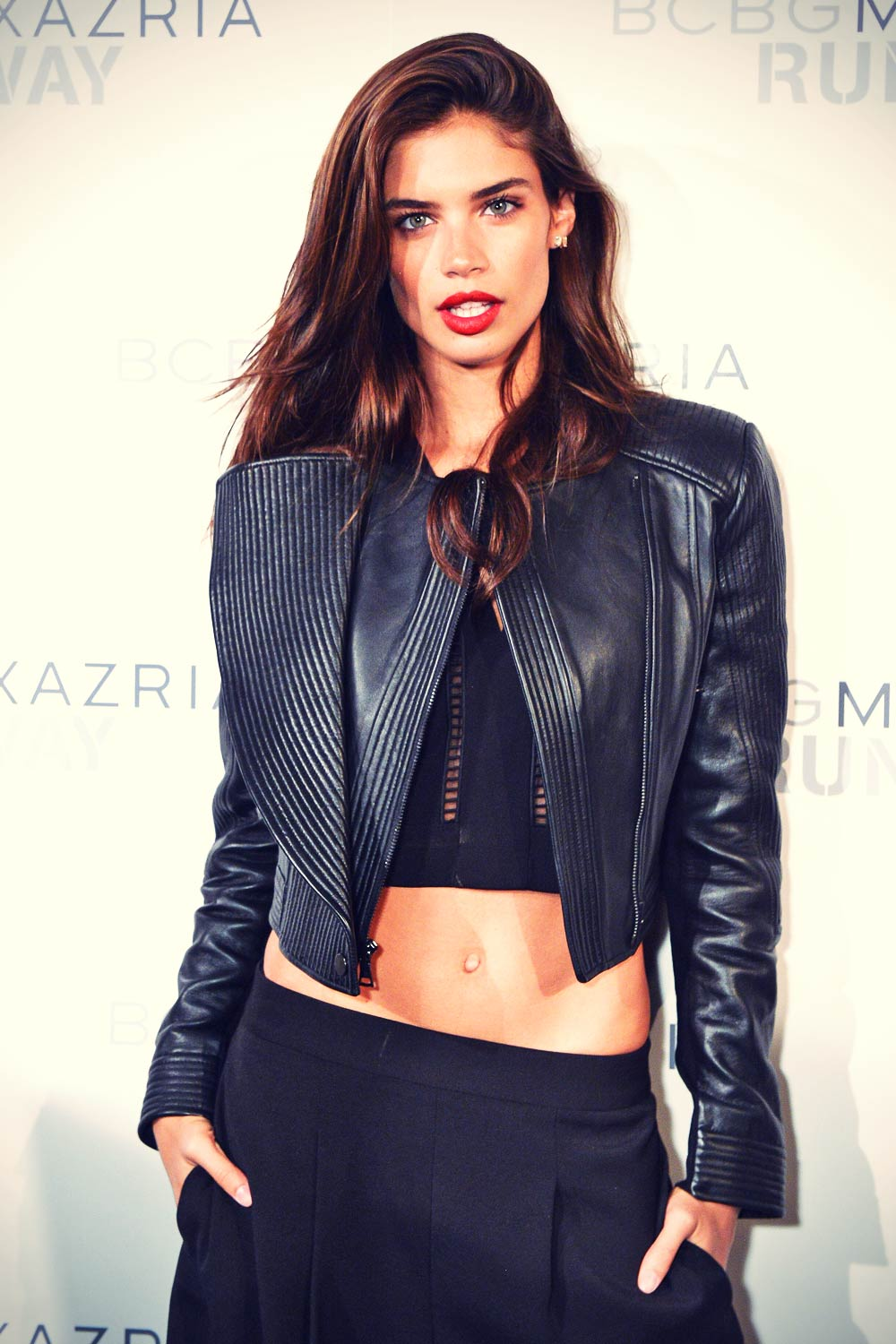 Sara Sampaio attends BCBGMAXAZRIA fashion show