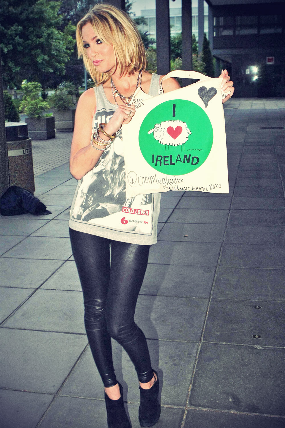 Sarah Harding after appearing on The Miriam O´Callaghan Chat Show