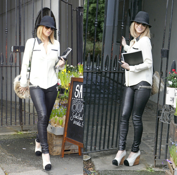 Sarah Harding is spotted out in London