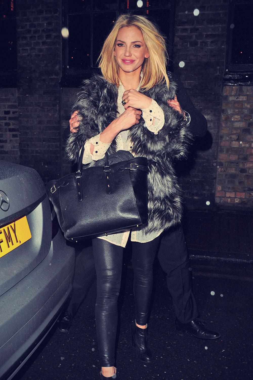 Sarah Harding leave Riverside Studio after filming Celeb Juice