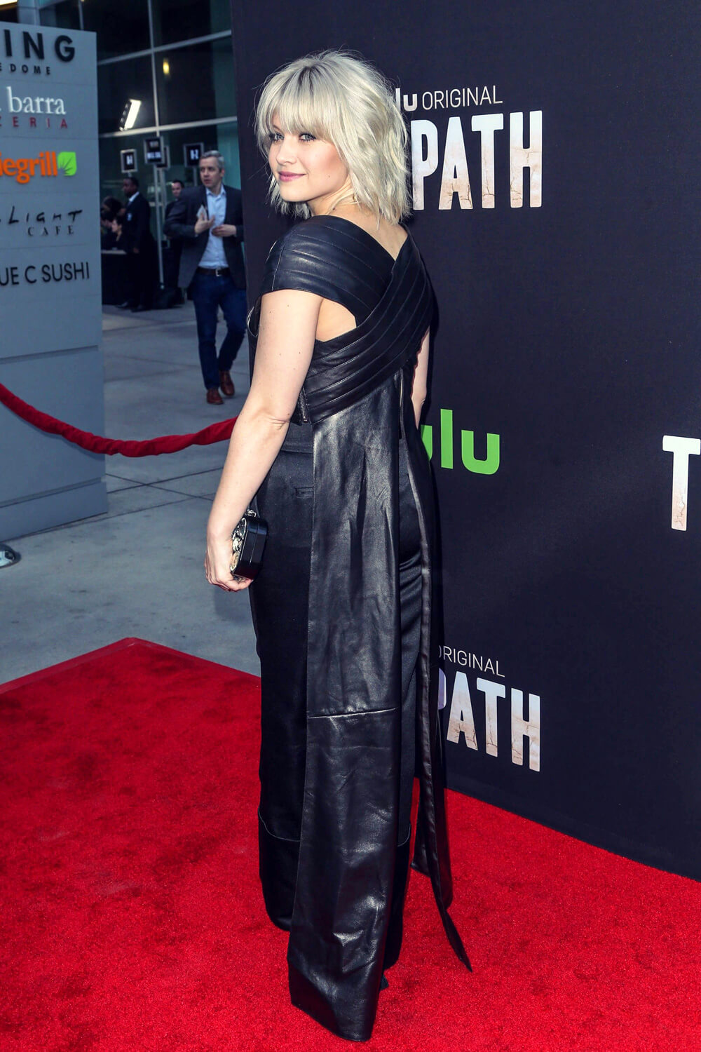 Sarah Jones Attends The Path Premiere Leather Celebrities