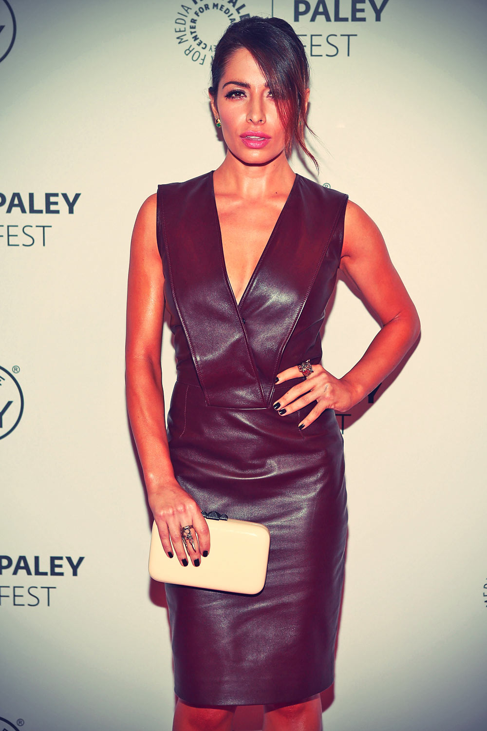 Sarah Shahi attends Person of Interest during 2013 PaleyFest