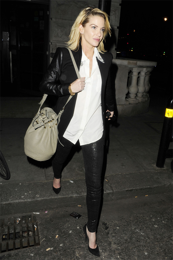 Sarah Harding watch One Man, Two Guvnors at the Theatre Royal Haymarket in London