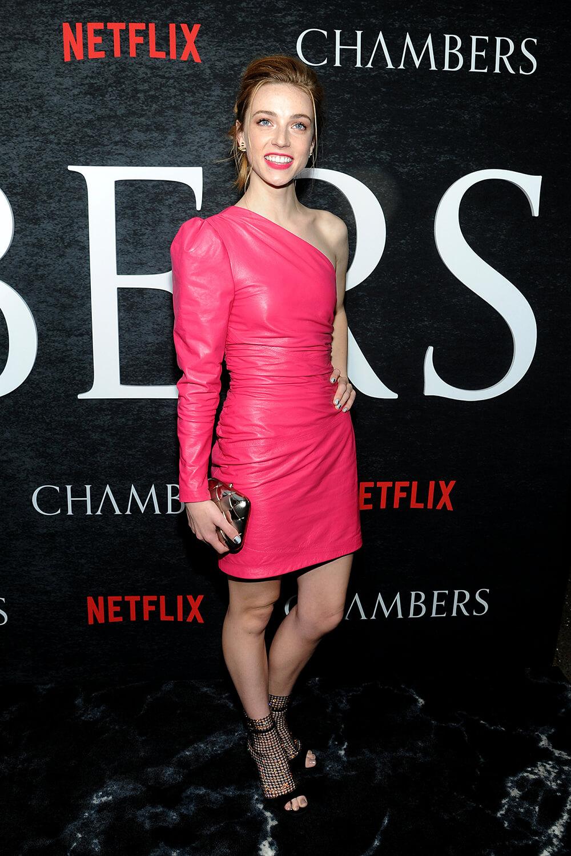 Sarah Mezzanotte attends Chambers TV show season one premiere, New York 15.04.2019