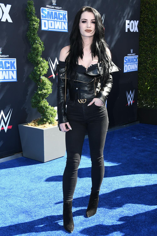 Saraya Jade Bevis attends WWE 20th Anniversary Marking Premiere