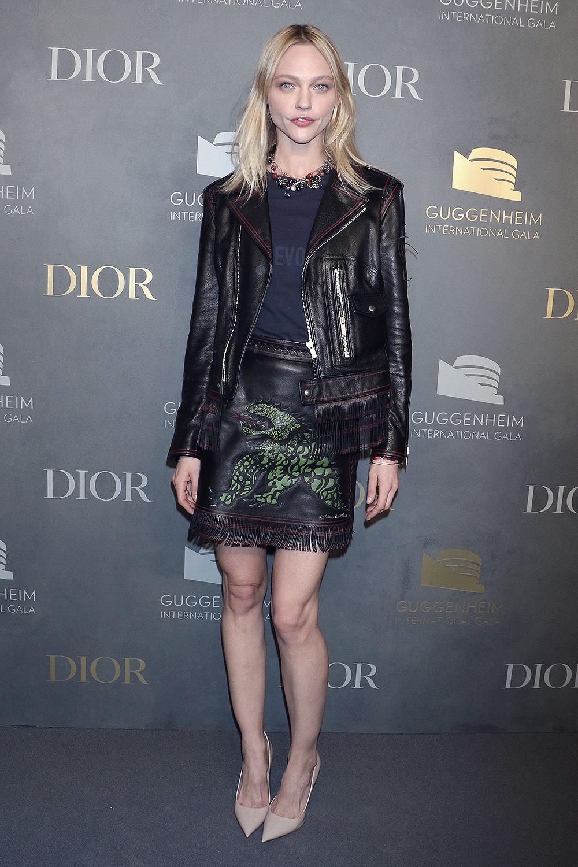 Sasha Pivovarova attends Guggenheim International Gala pre-party