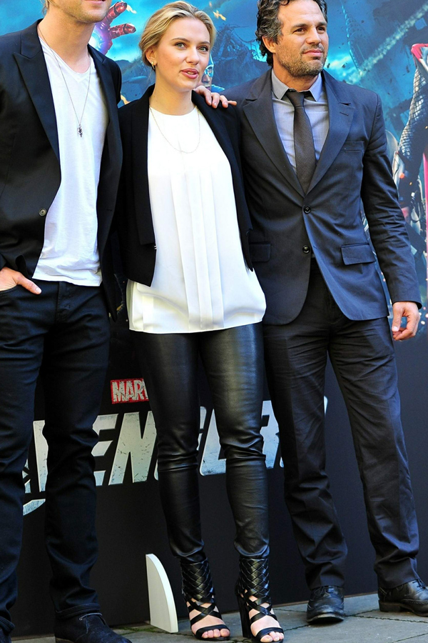 Scarlett Johansson at The Avengers photocall