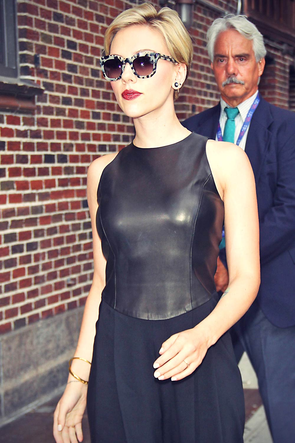 Scarlett Johansson At The Late Show With Stephen Colbert