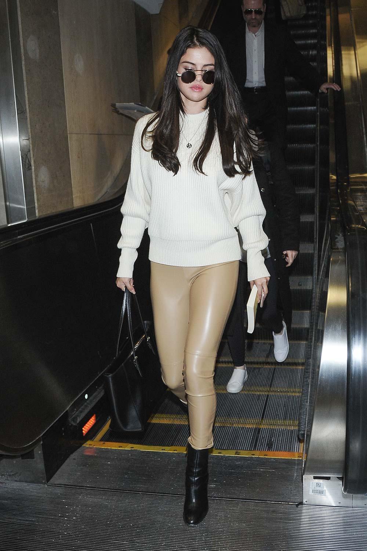 Selena Gomez arriving at LAX