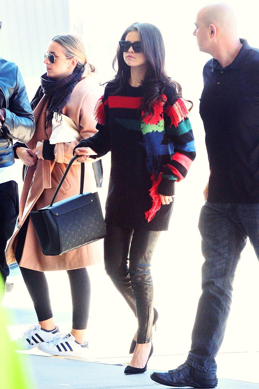 Selena Gomez departing from JFK Airport