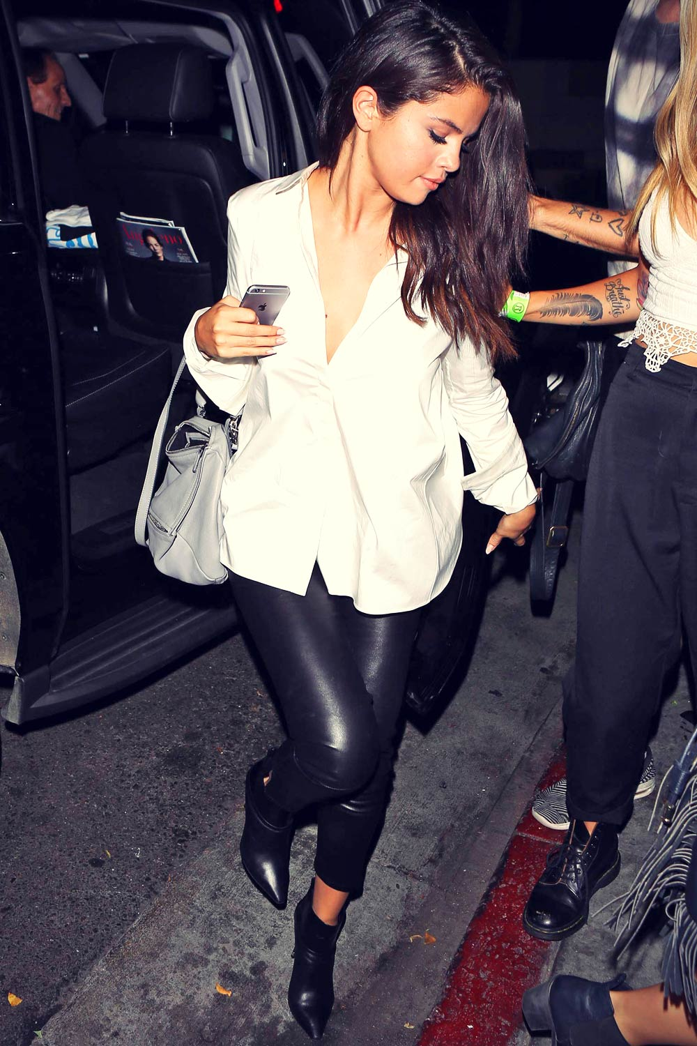 Selena Gomez seen leaving The Nice Guy restaurant