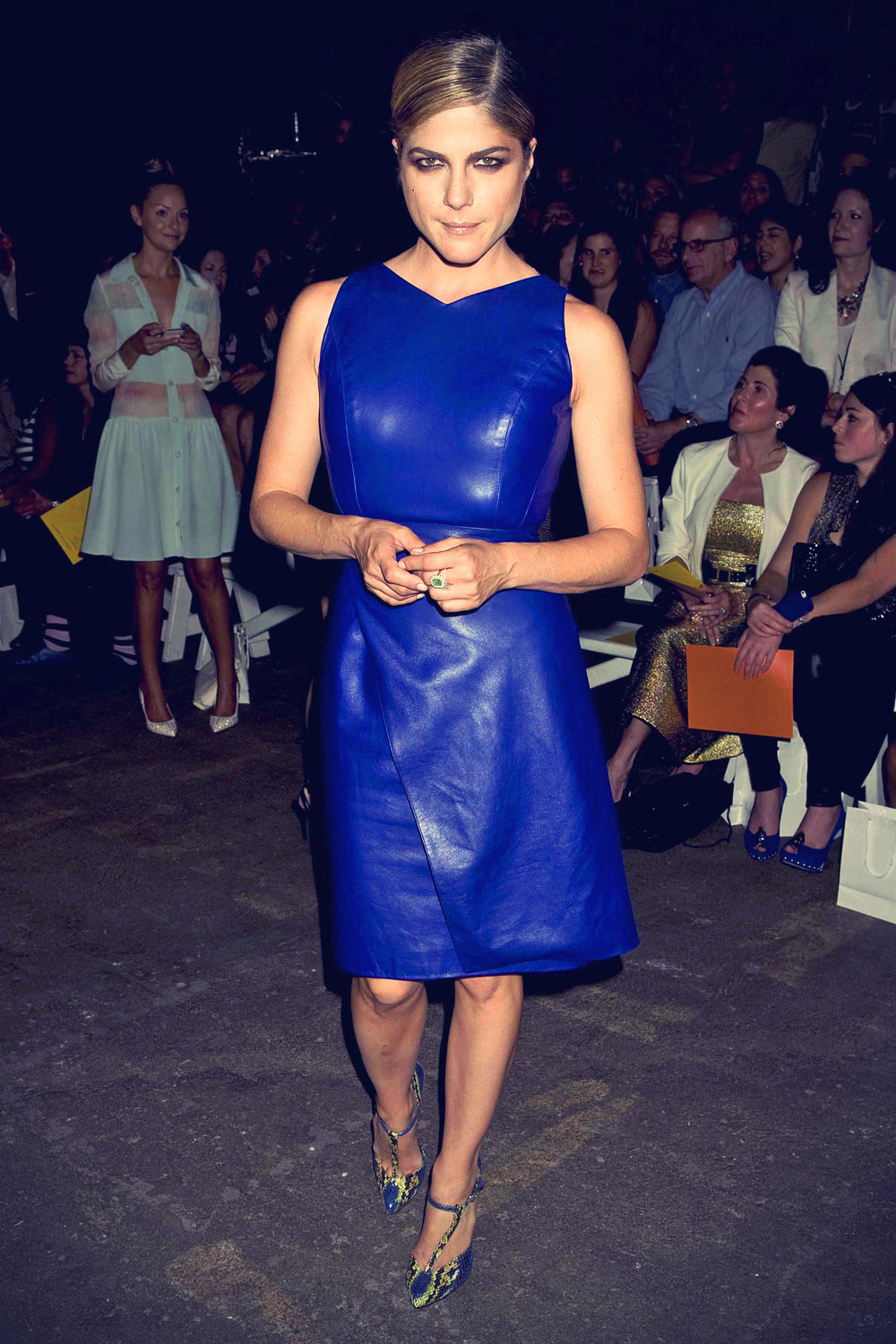 Mercedes Benz Midtown >> Selma Blair attends the Christian Siriano fashion show ...