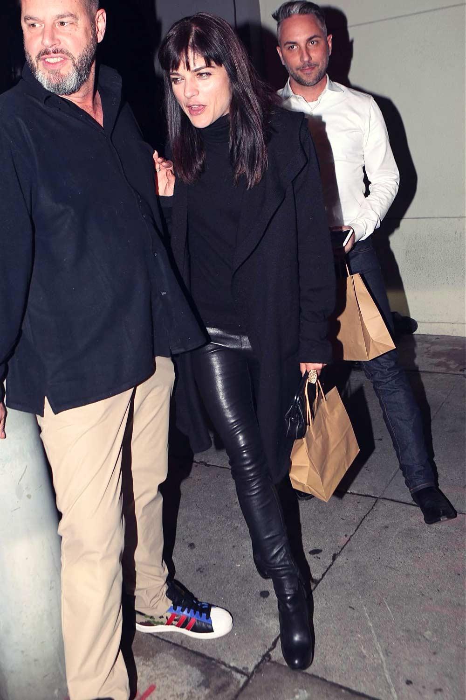 Selma Blair leaving Craig's Restaurant