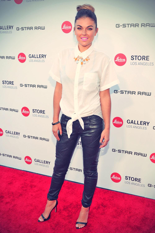 Serinda Swan attends Leica Store Los Angeles Grand Opening
