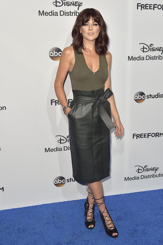 Serinda Swan at the 2017 ABC-Disney Media Distribution International Upfront