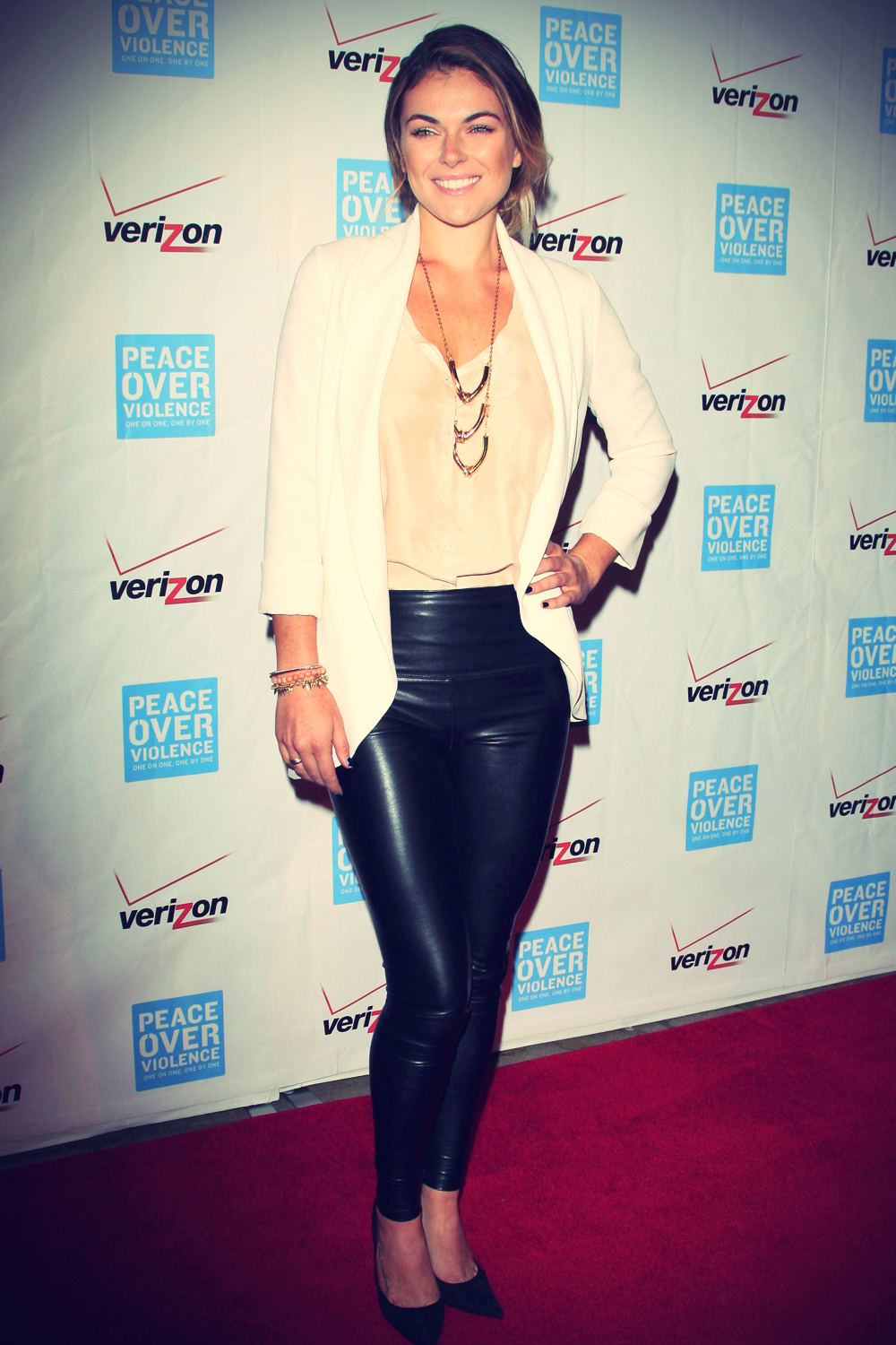 Serinda Swan at the 41st Annual Peace Over Violence Humanitarian Awards