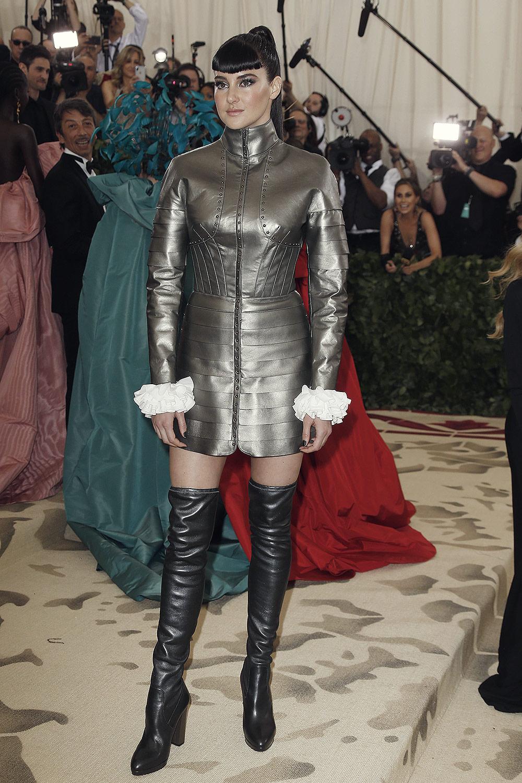Shailene Woodley attends MET Costume Institute Gala
