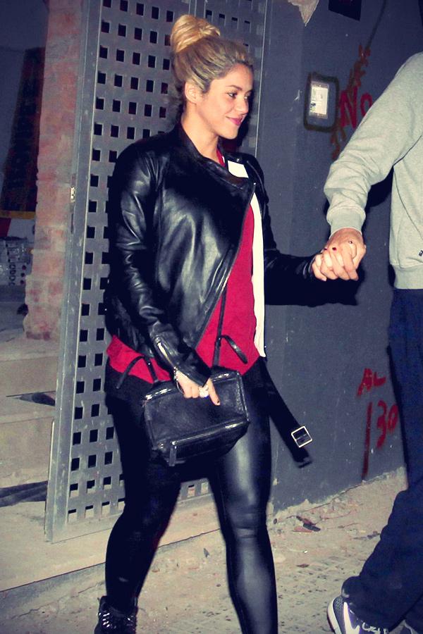 Shakira leaving a their future home