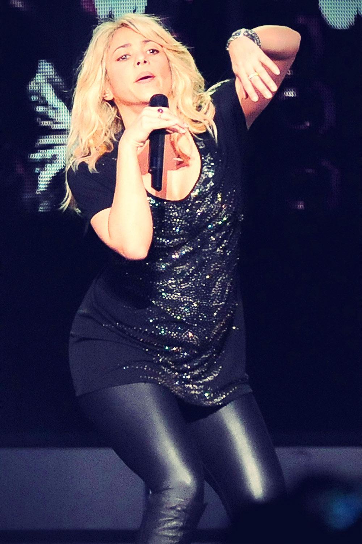 Shakira at a concert at Baku's Crystal Hall