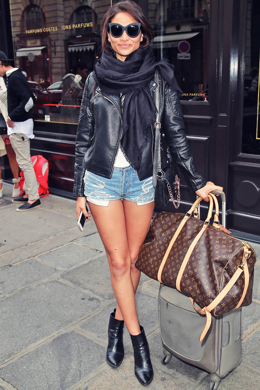Shanina Shaik leaving her Paris hotel