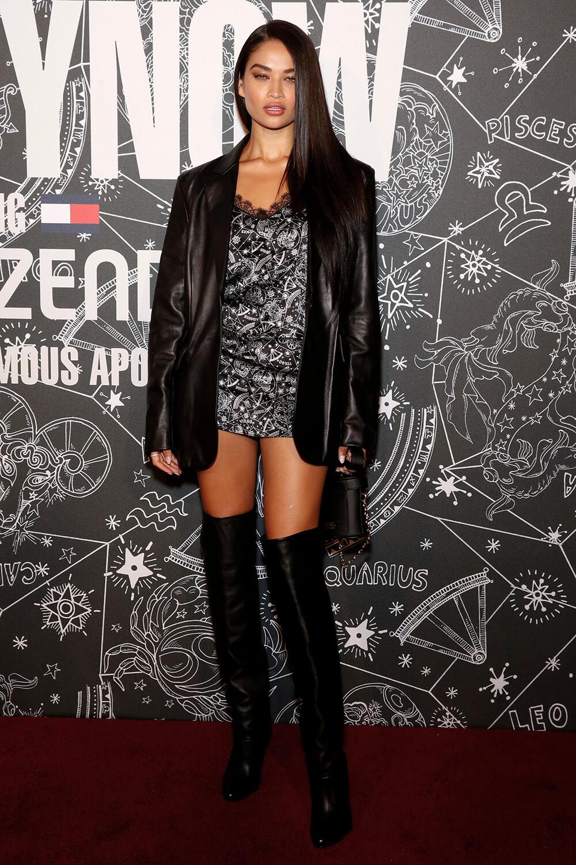 Shanina Shaik attends Tommy Hilfiger show