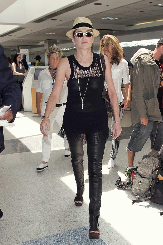 Sharon Stone at LAX