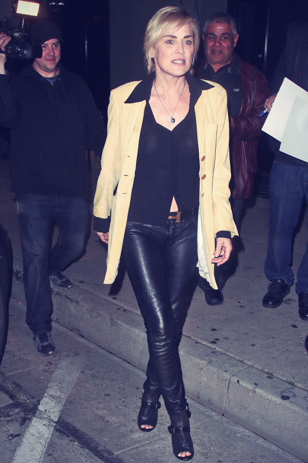 Sharon Stone enjoys a night out at Craig's Restaurant