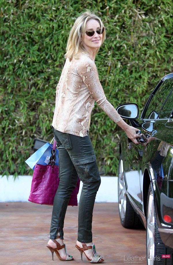 Sharon Stone at Salon Point of View in West Hollywood