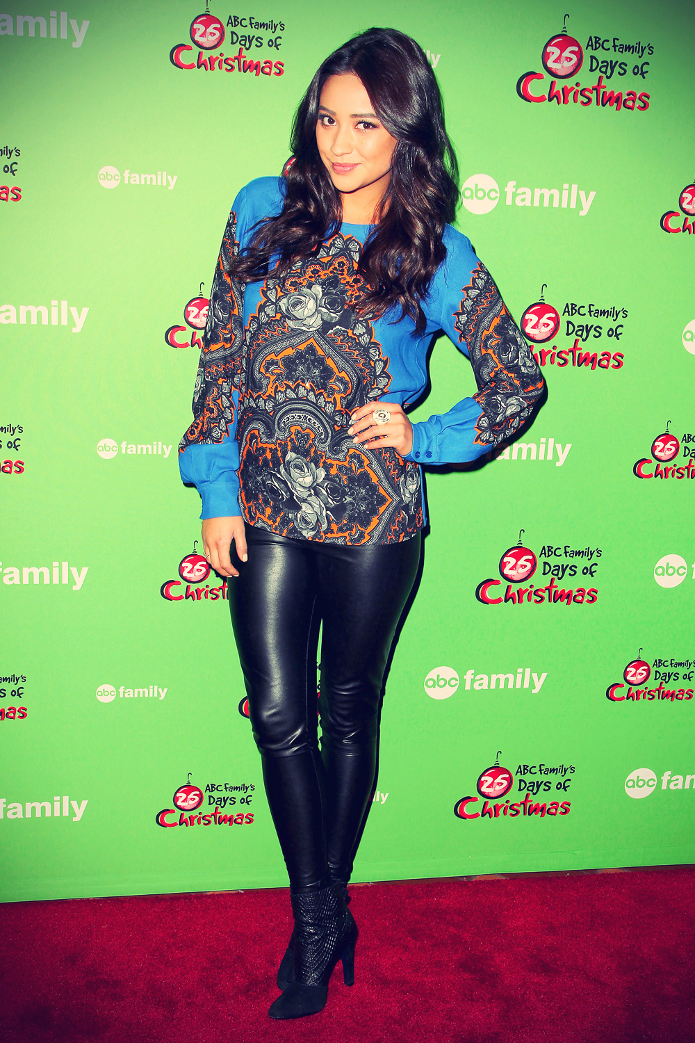 Shay Mitchell attends ABC Family's 25 Days Of Christmas