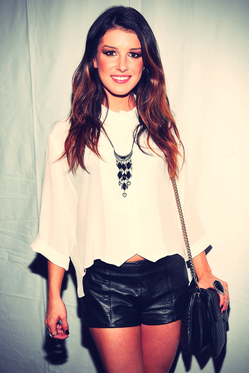 Shenae Grimes at Rebecca Minkoff Spring Fashion Show
