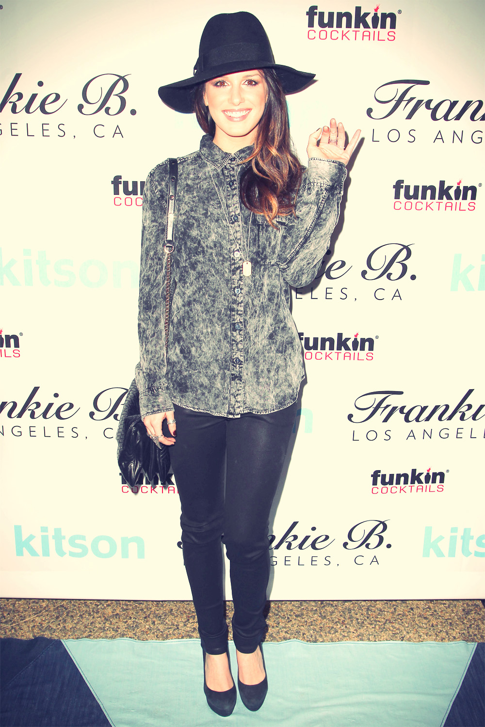 Shenae Grimes The Get Festive with Frankie B