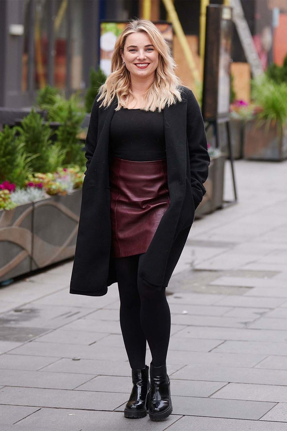 Sian Welby seen at Global Radio Studios in London's Leicester Square