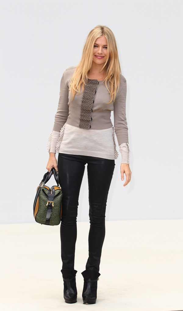 Sienna Miller a Burberry Prorsum S/S 2012 Show during London Fashion Week