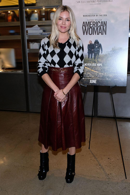 Sienna Miller attends American Woman screening